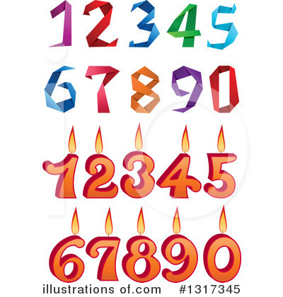 Numbers Clipart #1317345 by Vector Tradition SM