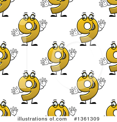 Numbers Clipart #1361309 by Vector Tradition SM