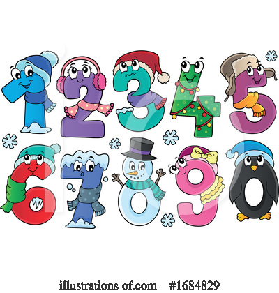 Royalty-Free (RF) Number Clipart Illustration by visekart - Stock Sample #1684829