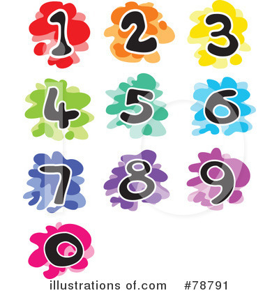 Royalty-Free (RF) Number Clipart Illustration by Prawny - Stock Sample #78791
