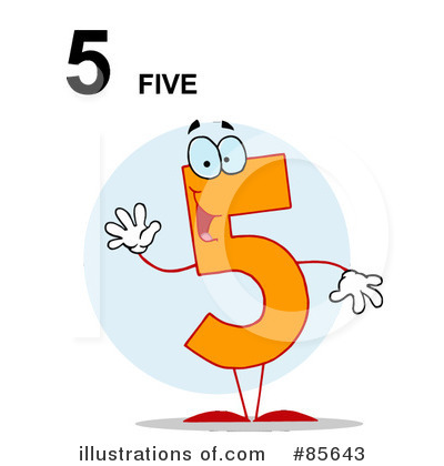 Five Clipart #85643 by Hit Toon