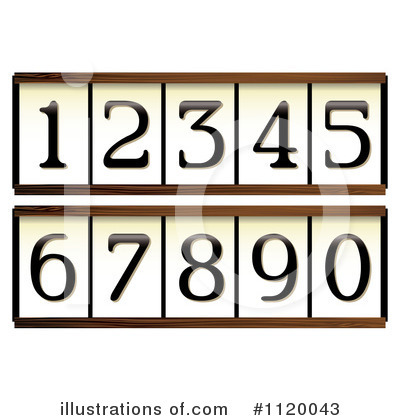 Numbers Clipart #1120043 by michaeltravers