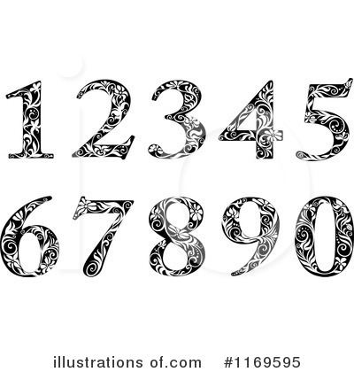 Vintage Numbers Clipart #1169595 by Vector Tradition SM