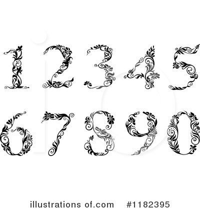 Royalty-Free (RF) Numbers Clipart Illustration by Vector Tradition SM - Stock Sample #1182395