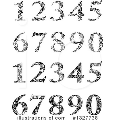 Numbers Clipart #1327738 by Vector Tradition SM