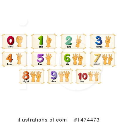 Royalty-Free (RF) Numbers Clipart Illustration by Graphics RF - Stock Sample #1474473