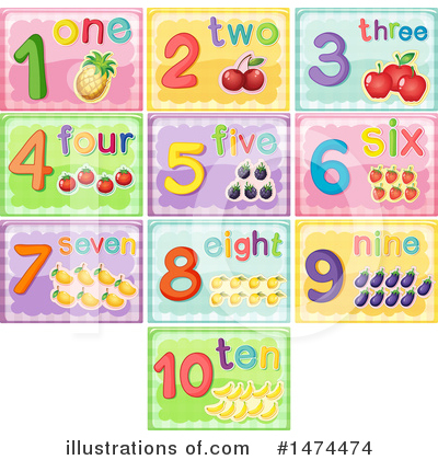 Royalty-Free (RF) Numbers Clipart Illustration by Graphics RF - Stock Sample #1474474