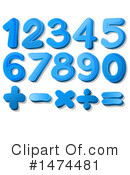 Royalty-Free (RF) Numbers Clipart Illustration #1474481