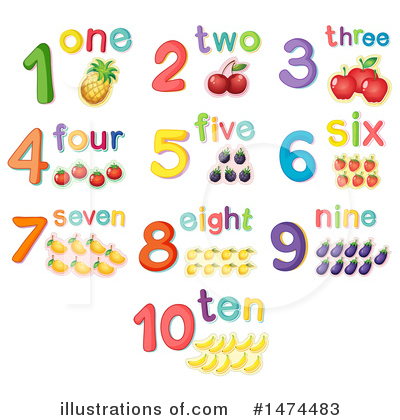 Number Clipart #1474483 by Graphics RF