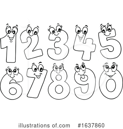 Number Clipart #1637860 by visekart