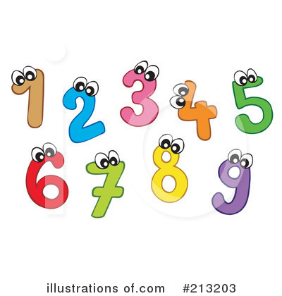 Royalty-Free (RF) Numbers Clipart Illustration by visekart - Stock Sample #213203
