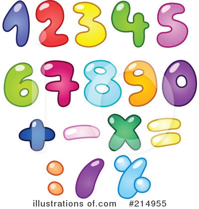 Royalty-Free (RF) Numbers Clipart Illustration by yayayoyo - Stock Sample #214955