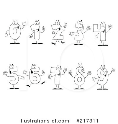 Four Clipart #217311 by Hit Toon