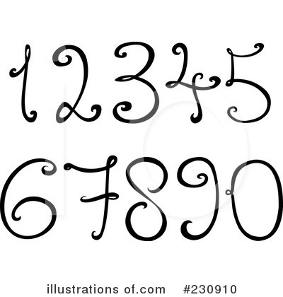 Royalty-Free (RF) Numbers Clipart Illustration by yayayoyo - Stock Sample #230910