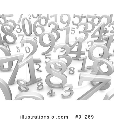 Royalty-Free (RF) Numbers Clipart Illustration by Jiri Moucka - Stock Sample #91269