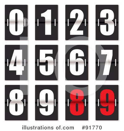 Numbers Clipart #91770 by michaeltravers