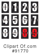 Royalty-Free (RF) Numbers Clipart Illustration #91770