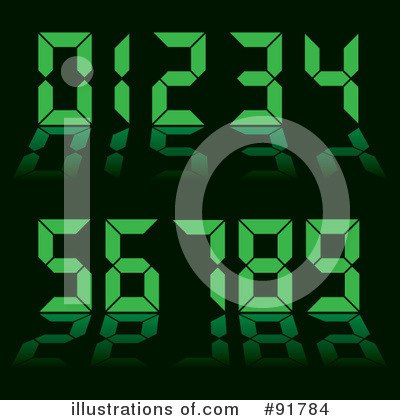 Royalty-Free (RF) Numbers Clipart Illustration by michaeltravers - Stock Sample #91784