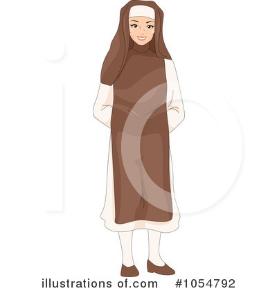 Nun Clipart #1054792 by BNP Design Studio