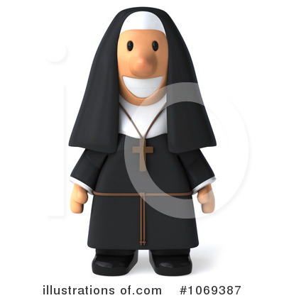 Royalty-Free (RF) Nun Clipart Illustration by Julos - Stock Sample #1069387