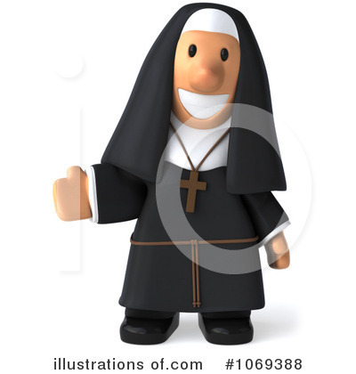 Nun Clipart #1069388 by Julos