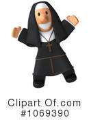 Royalty-Free (RF) Nun Clipart Illustration #1069390