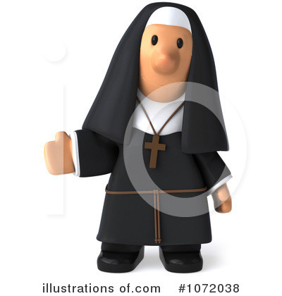 Nun Clipart #1072038 by Julos