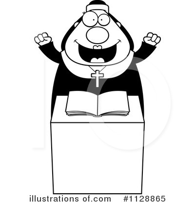 Nun Clipart #1128865 by Cory Thoman