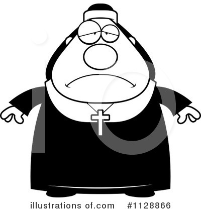 Nun Clipart #1128866 by Cory Thoman