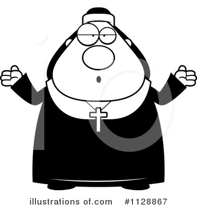 Nun Clipart #1128867 by Cory Thoman