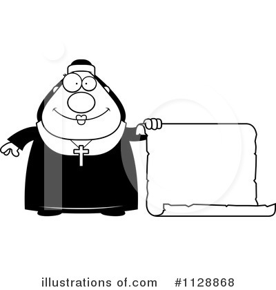 Nun Clipart #1128868 by Cory Thoman