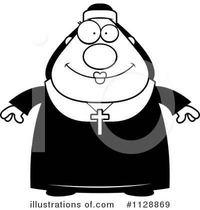 Nun Clipart #1128869 by Cory Thoman