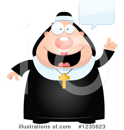 Nun Clipart #1235623 by Cory Thoman
