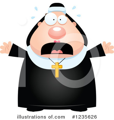 Nun Clipart #1235626 by Cory Thoman