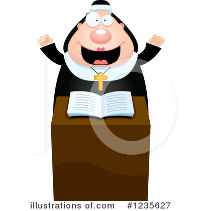 Royalty-Free (RF) Nun Clipart Illustration by Cory Thoman - Stock Sample #1235627