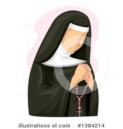 Nun Clipart #1384214 by BNP Design Studio