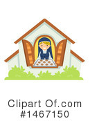 Royalty-Free (RF) Nun Clipart Illustration #1467150
