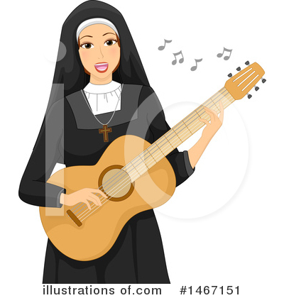 Nun Clipart #1467151 by BNP Design Studio