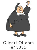 Royalty-Free (RF) Nun Clipart Illustration #19395