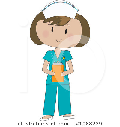 Royalty-Free (RF) Nurse Clipart Illustration by Maria Bell - Stock Sample #1088239