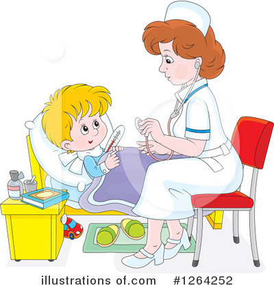 Nurse Clipart #1264252 by Alex Bannykh