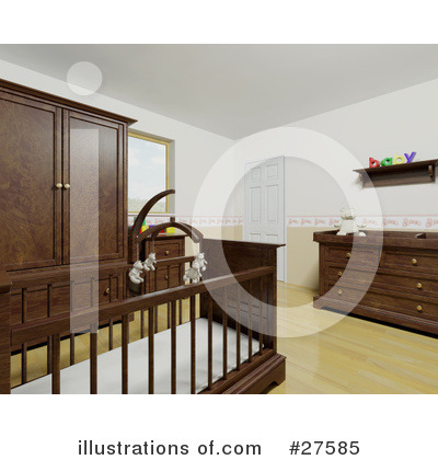 Crib Clipart #27585 by KJ Pargeter
