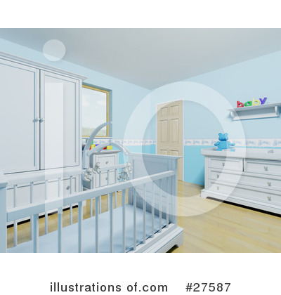 Crib Clipart #27587 by KJ Pargeter