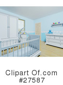 Royalty-Free (RF) nursery room Clipart Illustration #27587