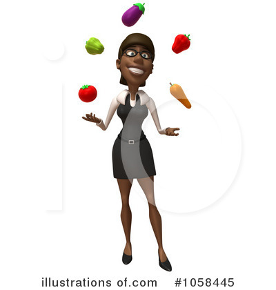 Black Businesswoman Character Clipart #1058445 by Julos