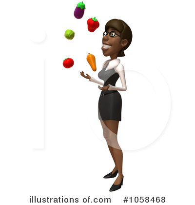 Black Businesswoman Character Clipart #1058468 by Julos