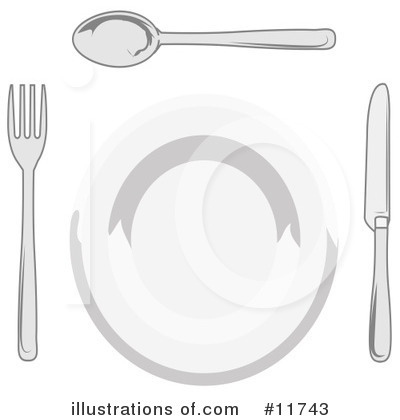 Plate Clipart #11743 by AtStockIllustration