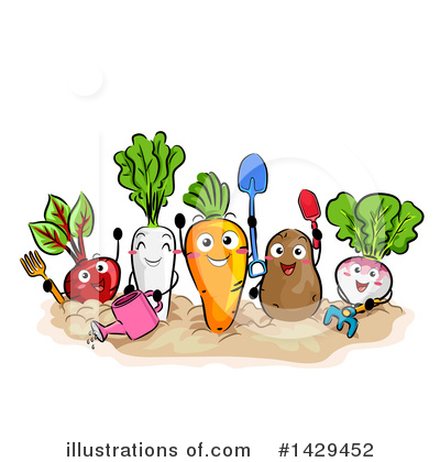 Radish Clipart #1429452 by BNP Design Studio