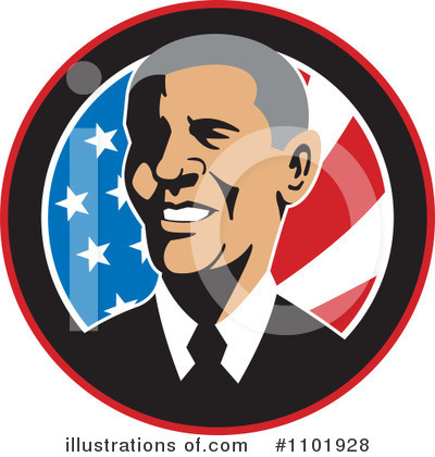 Royalty-Free (RF) Obama Clipart Illustration by patrimonio - Stock Sample #1101928