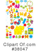 Royalty-Free (RF) Objects Clipart Illustration #38047